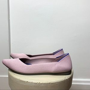 Rothys Size 6.5 Pointed Toe Petal Pink Point Flats